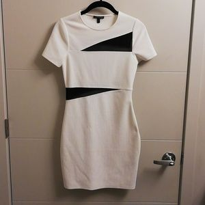 Express White Fitted Dress